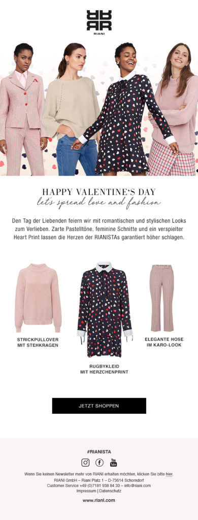 Newsletter for Valentines Day