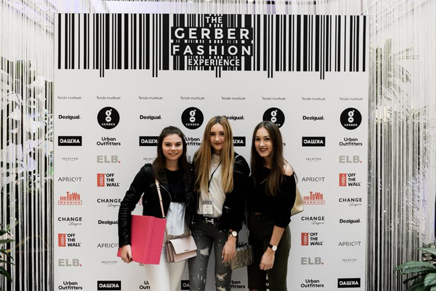 Pressewand Gerber Fashion Experience