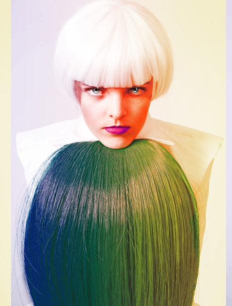 Modelshot Robin Halford Neon Portrait